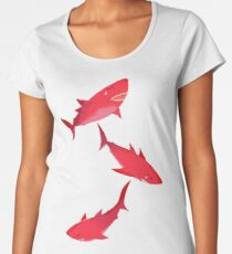 Sakura Shark Women's Premium T-Shirt