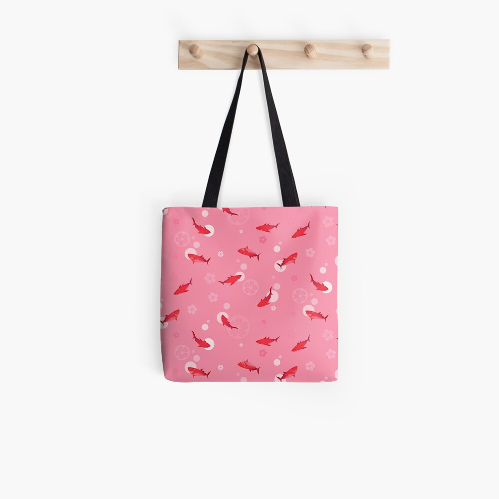Sakura Shark Tote Bag
