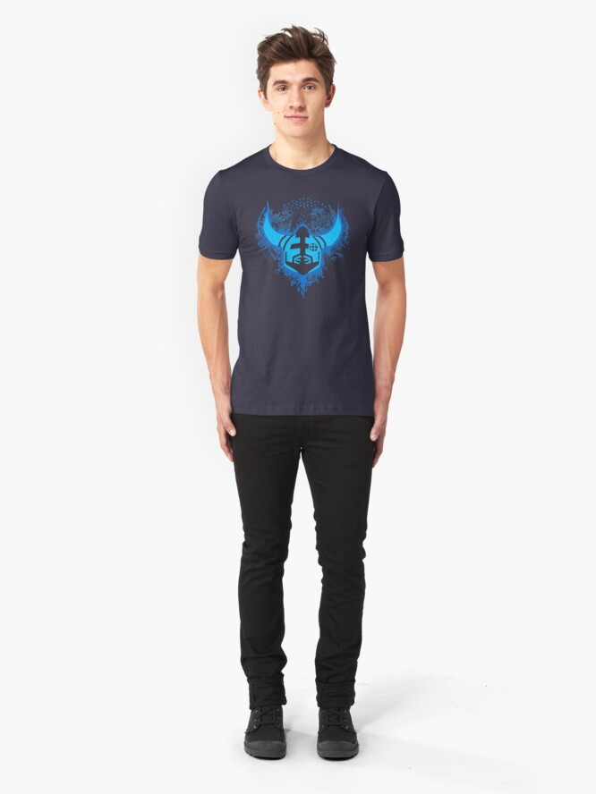 Alternate view of Megaran: Symphonies of the Knight- Blue Slim Fit T-Shirt