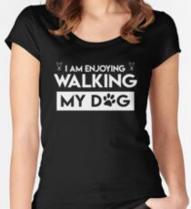 Cool T-Shirt Ideas For Dog Lover. Costume For Grandparents. Women's Fitted Scoop T-Shirt