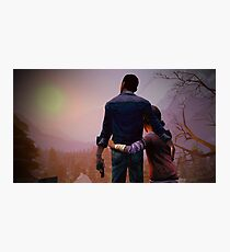 Clementine & Lee- The Walking Dead Game Photographic Print
