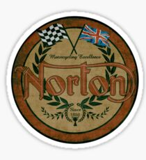 Vintage Norton Motorcycles Since 1898 by MotorManiac Sticker