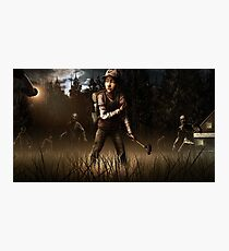 Clementine- The Walking Dead Game Photographic Print