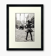 Fearless Girl & Bull NYC Framed Print