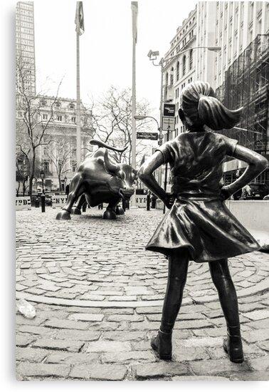 Fearless Girl & Bull NYC by Sean Sweeney