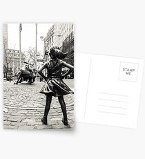 Fearless Girl & Bull NYC Postcards