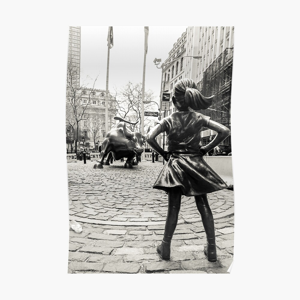 Fearless Girl & Bull NYC Póster