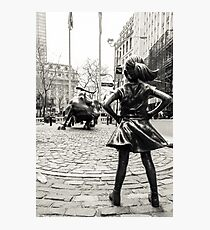 Fearless Girl & Bull NYC Photographic Print