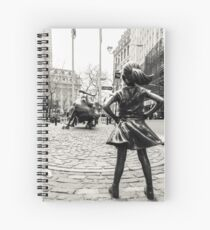 Fearless Girl & Bull NYC Spiral Notebook