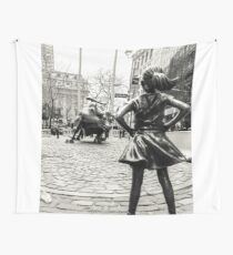 Fearless Girl & Bull NYC Wall Tapestry