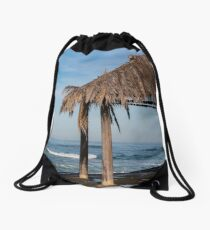 Surfer Shack at Windansea Drawstring Bag