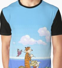 Calvin and Hobbes Holiday Spring Graphic T-Shirt
