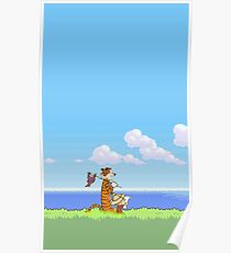 Calvin and Hobbes Holiday Spring Poster
