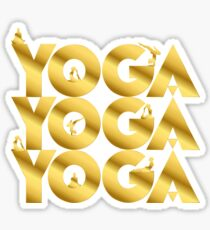 Yoga Namaste in gold Sticker