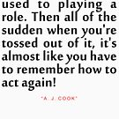 "It's so easy...""A. J. Cook"" Inspirational Quote by ColorQuote"