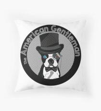 The American Gentleman Throw Pillow