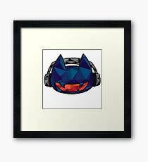 Phone Case Monster cat geometric Framed Print