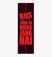 Bus Typo Photographic Print