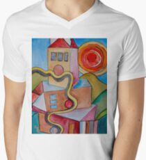 My City Men's V-Neck T-Shirt