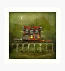 'Railway Station' Art Print