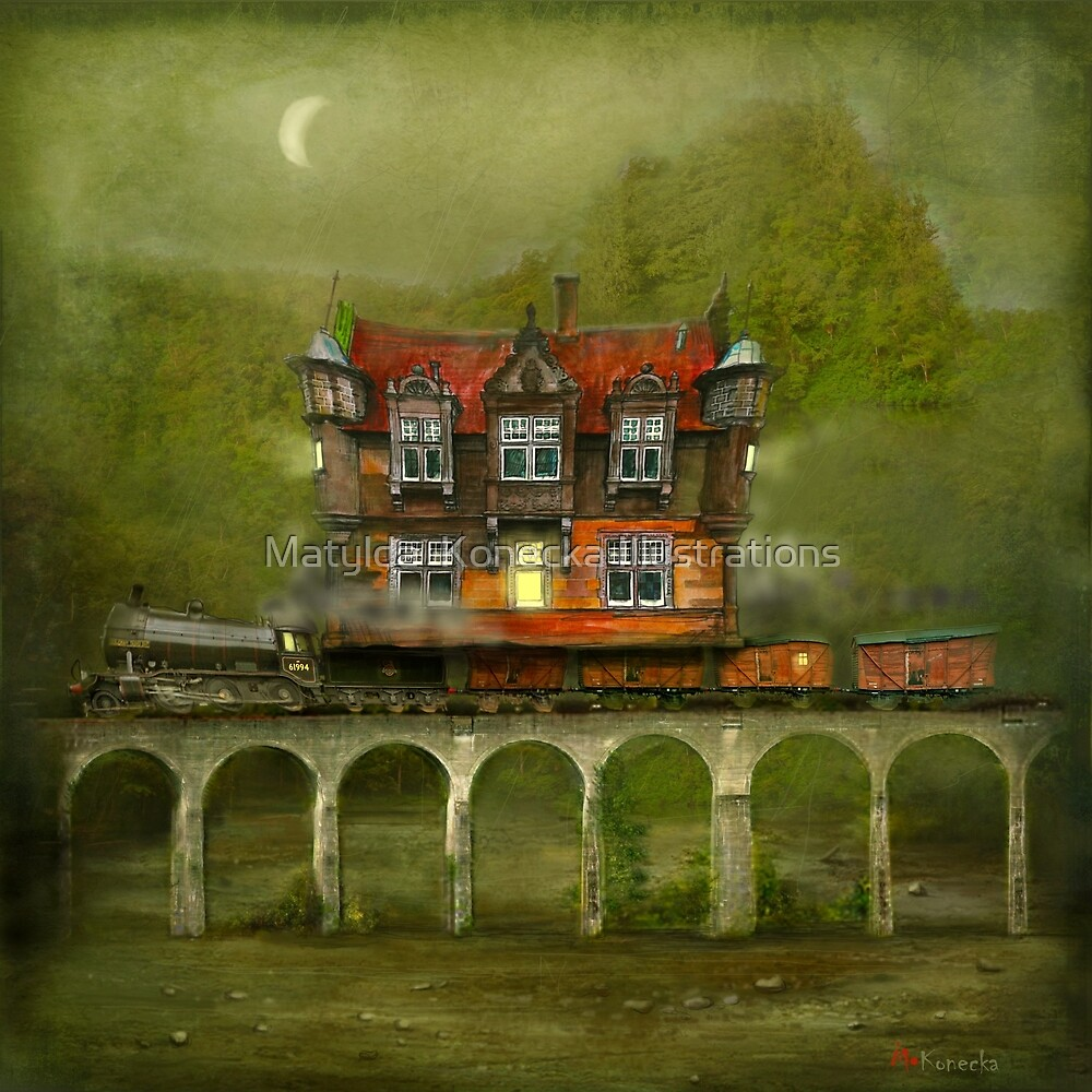 'Railway Station' by Matylda  Konecka Illustrations