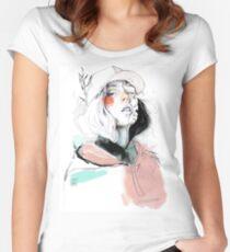 COLLABORATION ELENA GARNU/JAVI CODINA Camiseta entallada de cuello ancho