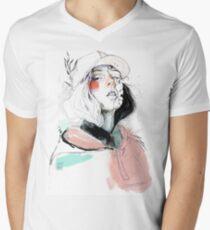 COLLABORATION ELENA GARNU / JAVI CODINA V-Neck T-Shirt