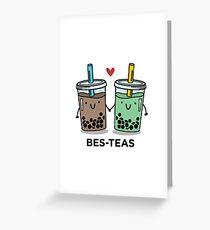 BES-TEAS pun Greeting Card