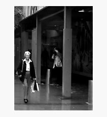 Shopping to Meet You. Photographic Print