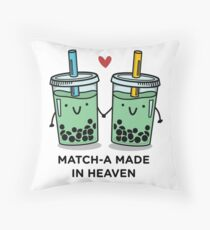 Match-a Made in Heaven pun Throw Pillow