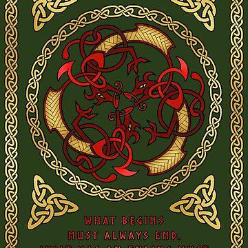 "Þrírdreki ""the Three Dragons"" by Sarinilli"