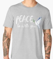 Peace Be With You Dove of Peace Men's Premium T-Shirt