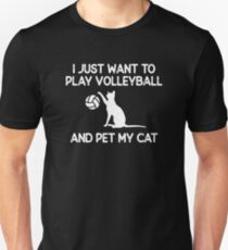 Volleyball and Cat Lover Gift Unisex T-Shirt