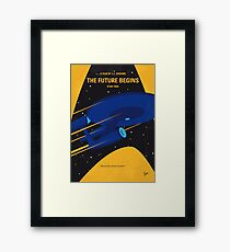 No930 My ST The Future Begins minimal movie poster Framed Print