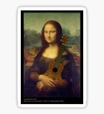 Mona Lisa (with ukulele) Sticker