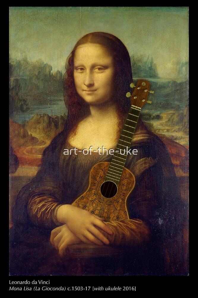 Mona Lisa (with ukulele) by art-of-the-uke