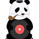 Cute Panda Smoking with his Disc by thewishdesigns