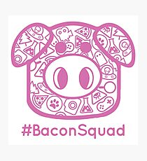 #BaconSquad - Pink Photographic Print