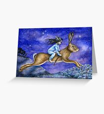 The Dream - Hare rider Greeting Card
