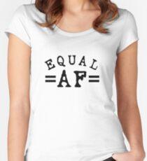 EQUAL AF black Fitted Scoop T-Shirt