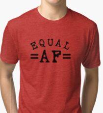 EQUAL AF black Tri-blend T-Shirt