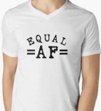 EQUAL AF black Men's V-Neck T-Shirt