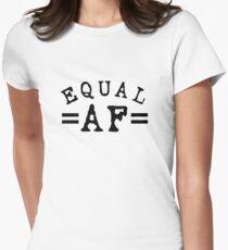 EQUAL AF black Fitted T-Shirt