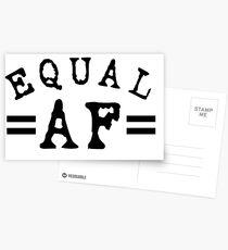 EQUAL AF black Postcards