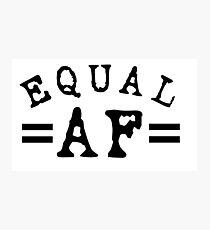 EQUAL AF black Photographic Print