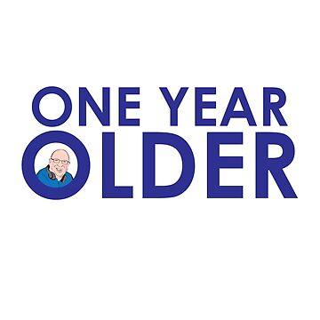 ONE YEAR OLDER POPMASTER BIRTHDAY CARD by mattoakley