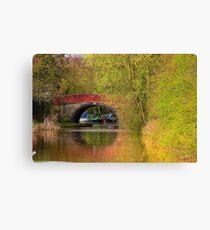 Bridge 21 - Ashby Canal Canvas Print