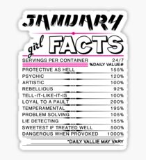 January Girl Facts Sticker