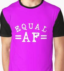 EQUAL AF white Graphic T-Shirt