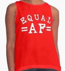 EQUAL AF white Sleeveless Top